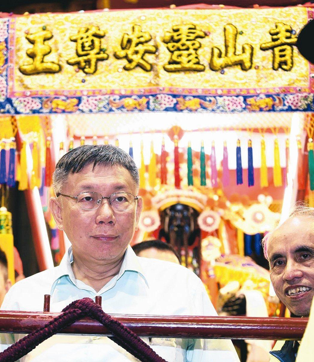 台北市长柯文哲。 联合报系记者苏健忠/摄影
