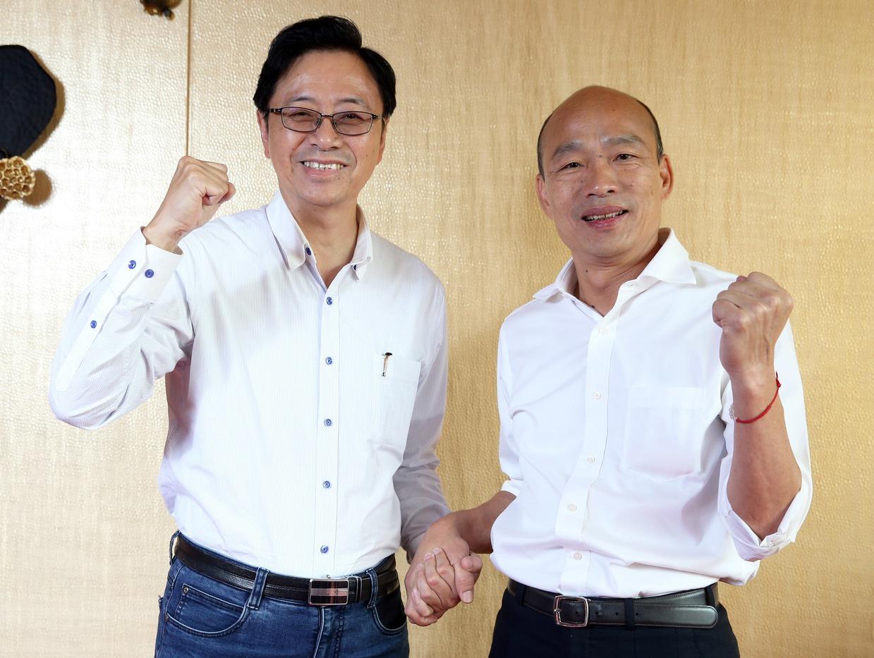 韩国瑜与张善政明将前往中选会登记。 图/联合报系资料照片