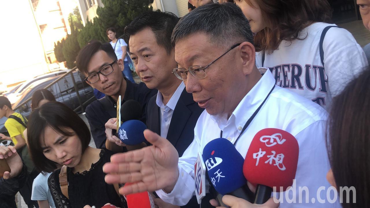 柯文哲认为,明年大选胜负已定。记者陈秋云/摄影