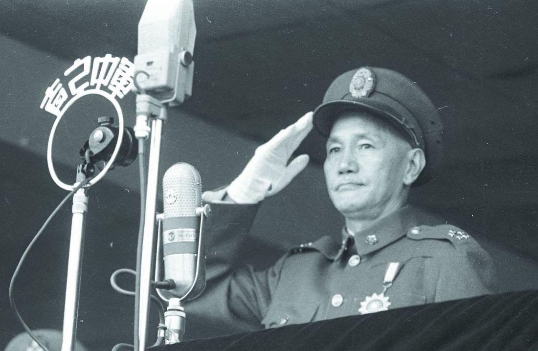 国民党的永久总裁蒋中正。 图/联合报系资料照片