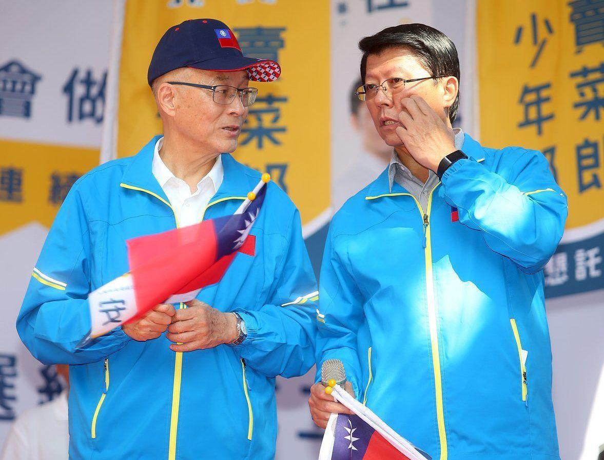 谢龙介参选党主席(右),能否转变国民党的「宫廷」形象? 图/联合报系资料照片