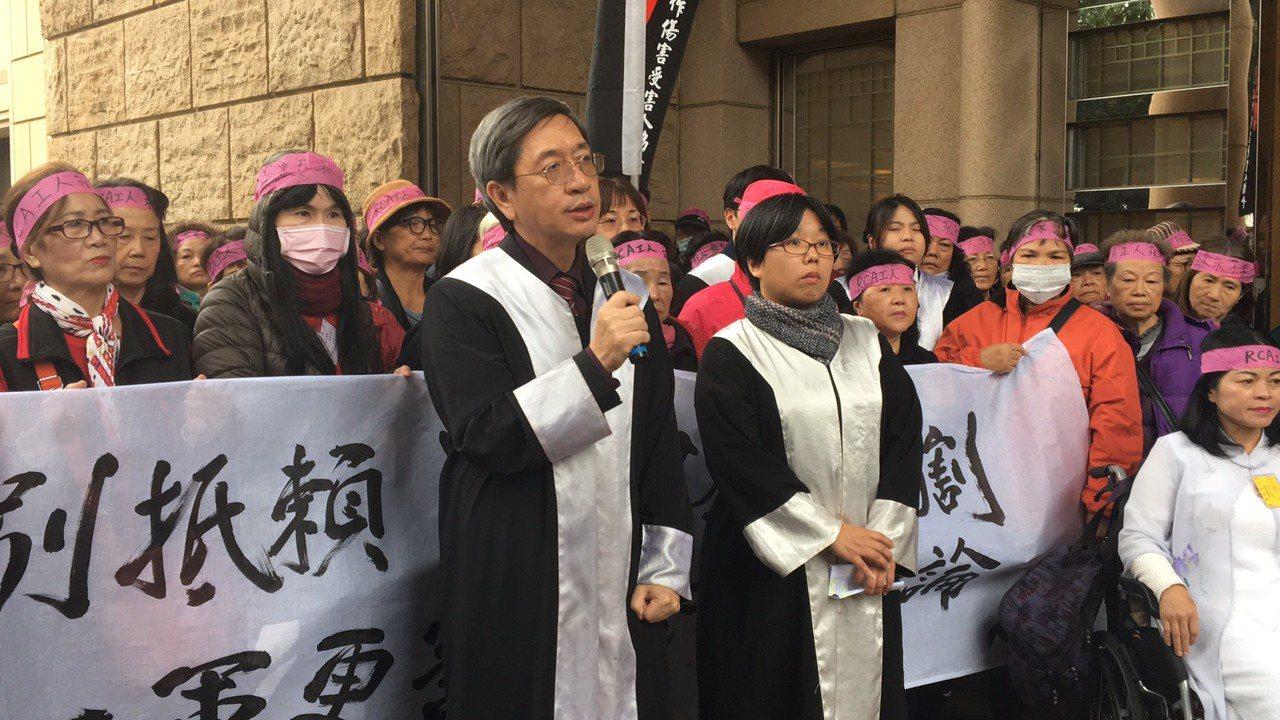 律师林永颂(左)。记者林孟洁/摄影