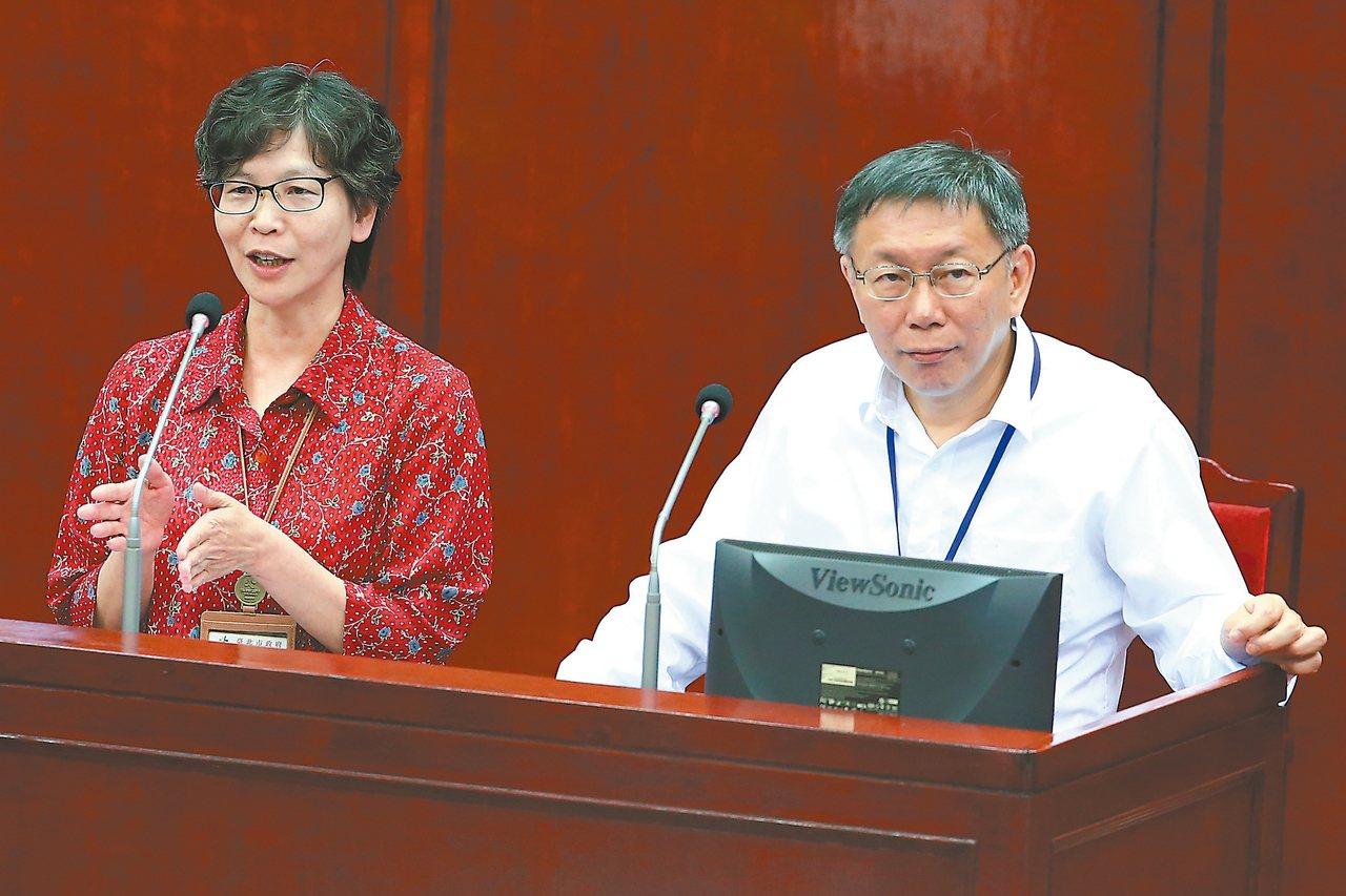 台湾民众党不分区立委提名人蔡壁如(左)昨爆料,三个女人当年一天到晚向柯文哲要补助...