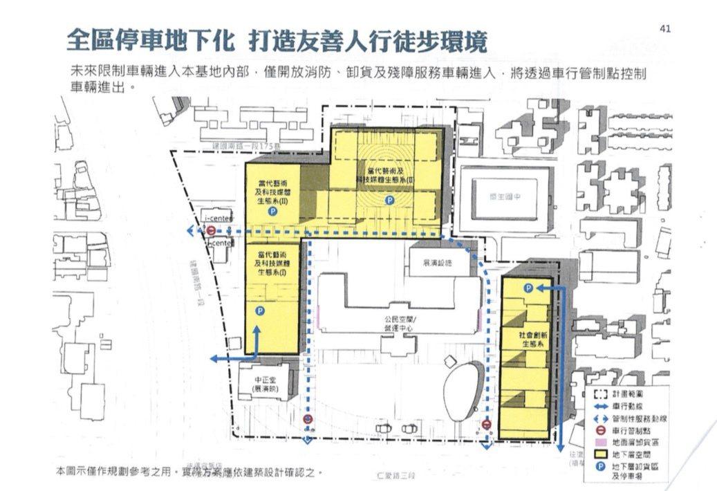 空总台湾当代文化实验场C-LAB二期整体发展计画配置图。记者何定照/翻摄