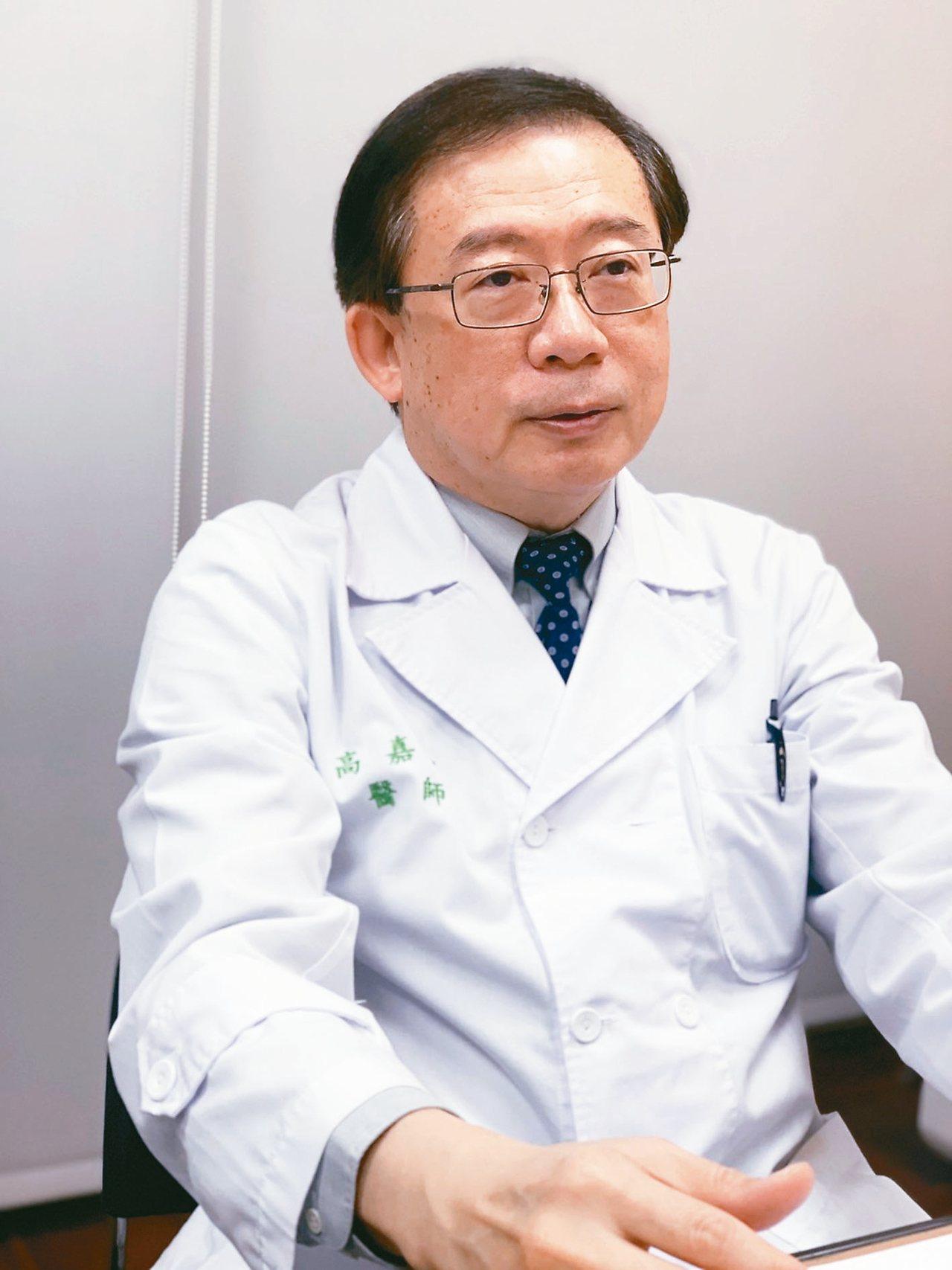 台湾肝病医疗策进会会长高嘉宏。 记者吴贞莹/摄影