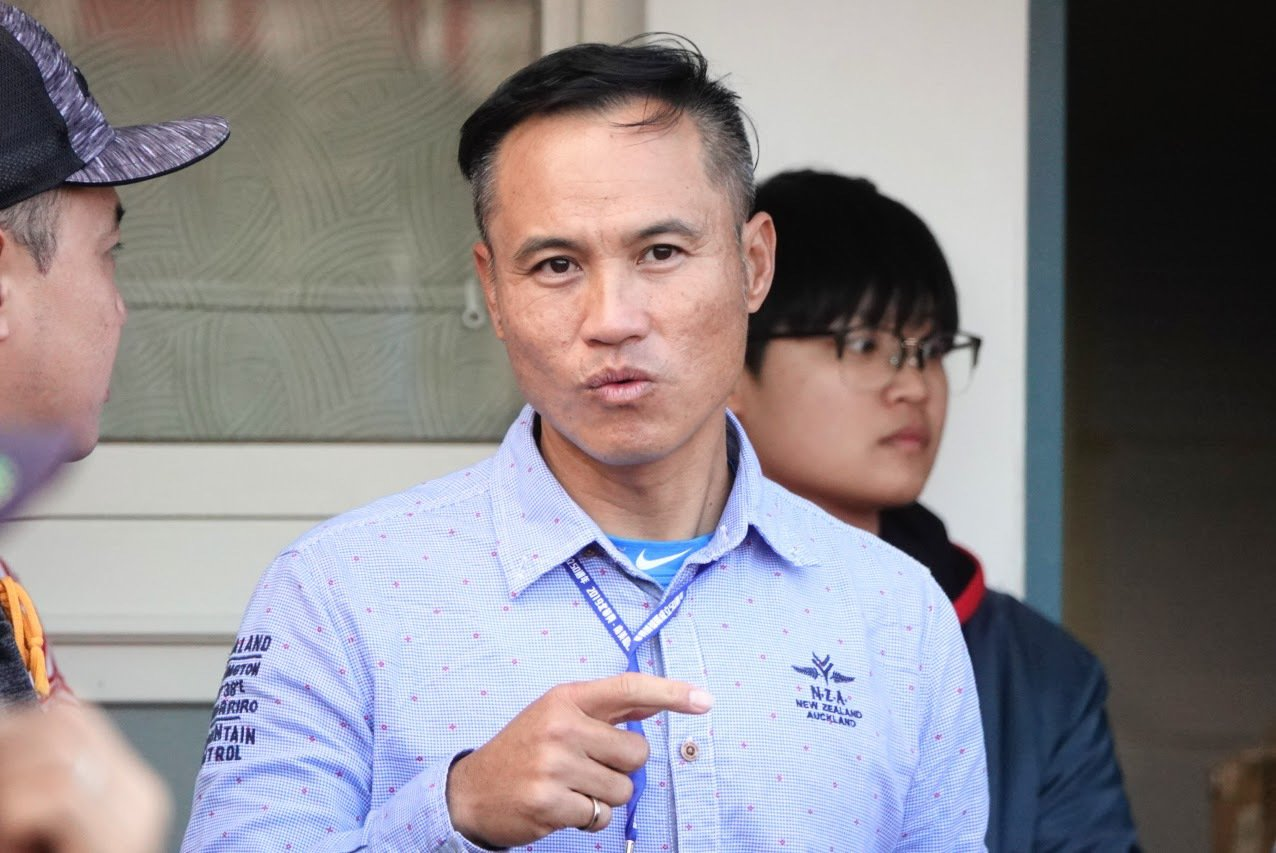 富邦悍将队守备教练郑兆行今天出席华兴、美和OB赛。记者苏志畲/摄影