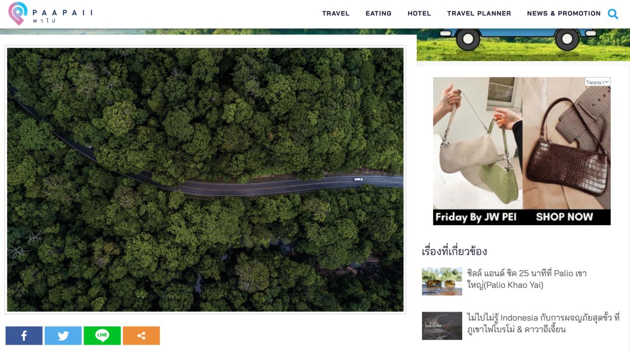 同样图片也出现在泰国拷艾国家公园的网站上。 图/取自PAAPAII网站