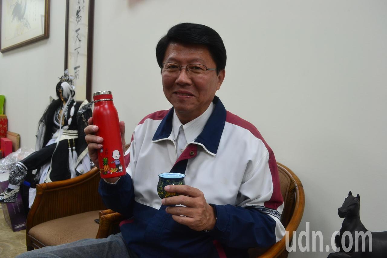 国民党台南市党部主委谢龙介。记者郑惠仁/摄影