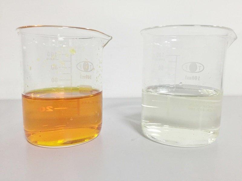 某上市公司生產染料所產生的的高色度廢水,經愛綠淨科技以純化氧化劑處理,脫色率高,...