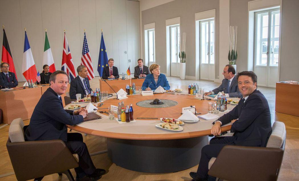 G5領袖今年4月下旬在德國漢諾威舉行峰會,不過半年多時間這五人如今看來只剩梅克爾...