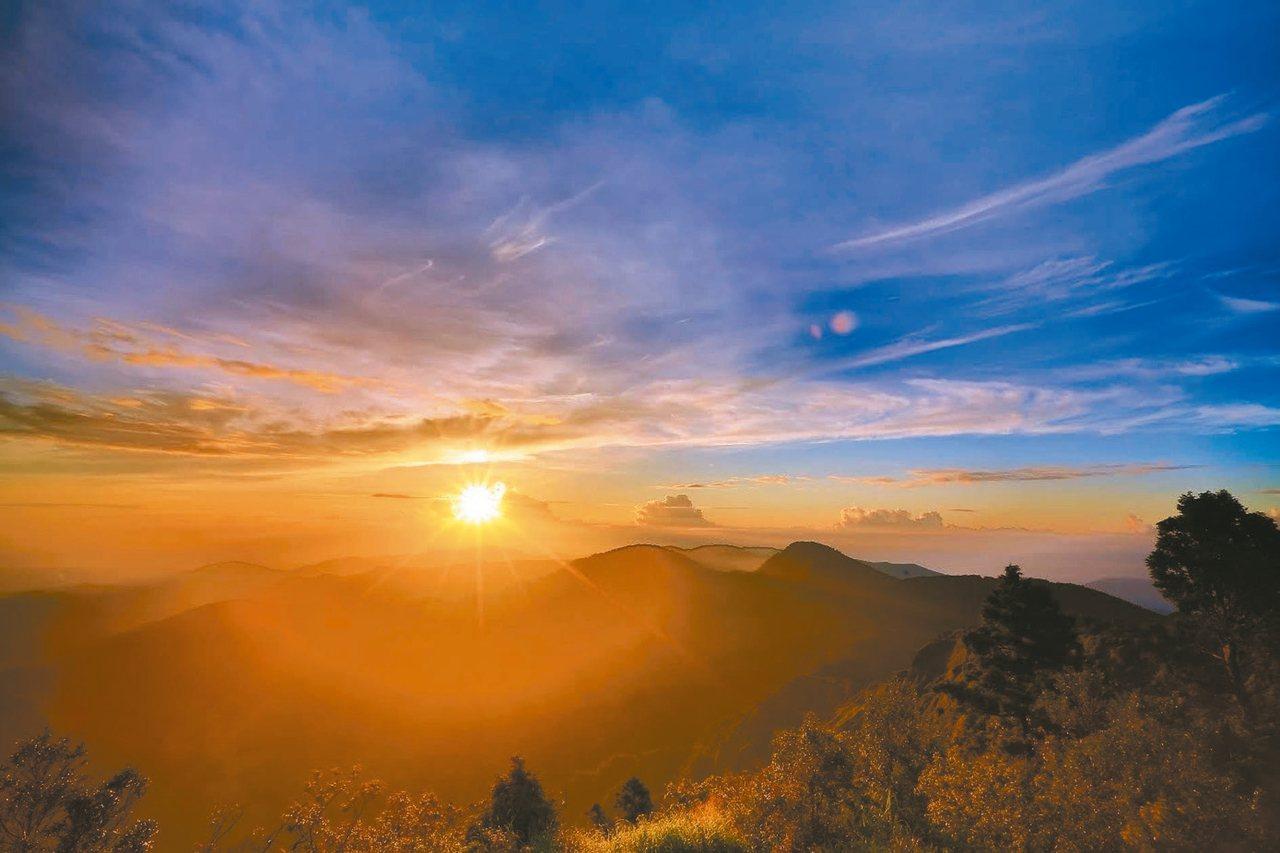 太平山國家森林遊樂區於元旦當天提早開放入園。 圖/林務局羅東林區管理處提供