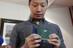 林昶佐秀護照! 自製貼紙蓋掉「China」