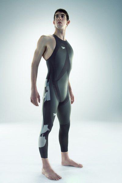 菲爾普斯自2000年起穿鯊魚裝稱霸奧運,刷破無數世界紀錄。圖/Speedo提供