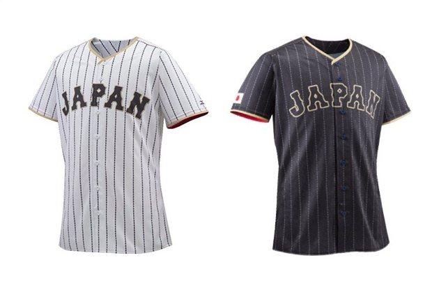 日本武士隊發表新球衣。 圖/截取自日本武士隊官網