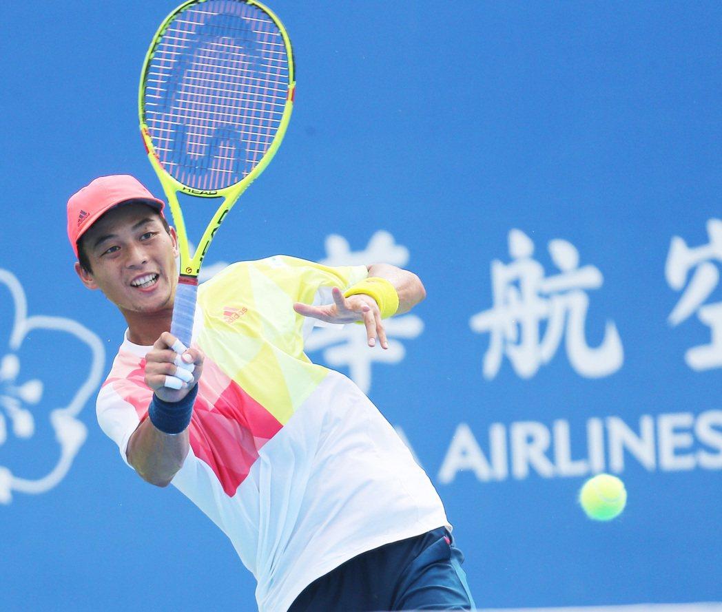 盧彥勳3場比賽都以直落2勝出。 記者劉學聖/攝影