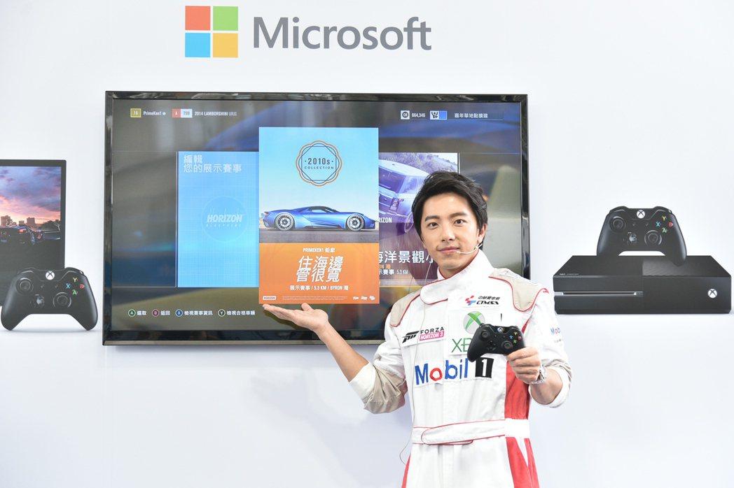 謝坤達出席遊戲活動。圖/台灣微軟提供