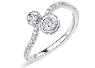 Infini Love Diamond Iconic系列 18K白金鑽石戒指,建...