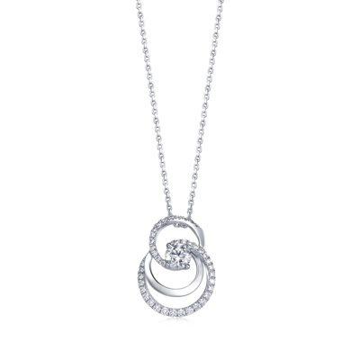 Infini Love Diamond Iconic系列18K白金鑽石吊墜,主石...