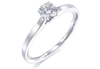 Infini Love Diamond 典雅系列900鉑金鑽石戒指,主石1克拉,...