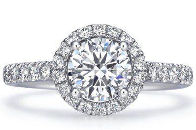 Infini Love Diamond 婚嫁系列900鉑金鑽石戒指,主石1克拉,...
