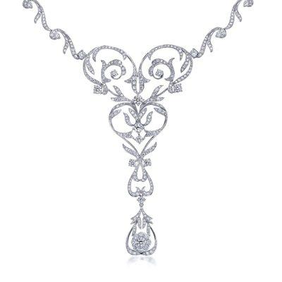 Infini Love Diamond 典雅系列18K白金鑽石頸鍊,建議售價16...