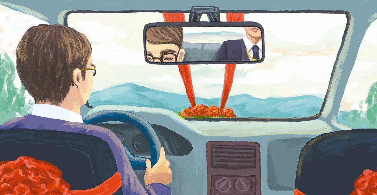 儘管提早一個小時上路,車流還是不怎麼順,緩緩接近雪山隧道,從車內後照鏡看到昌哥雙...