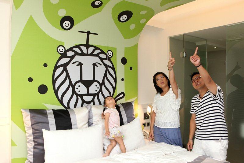 充滿童趣的綠色獅子圖案,深獲小朋友喜愛。