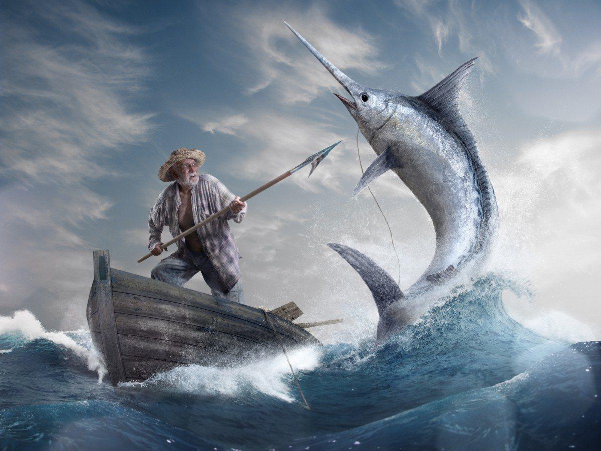 海明威作品《老人與海》。圖/取自beamingnotes