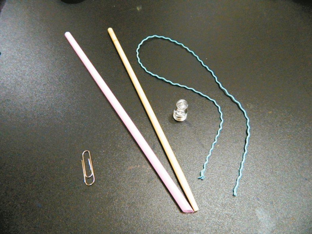 生活嬉遊瓜瓜一家:大家來釣魚材料:免洗筷、吸管、棉繩、圖釘磁鐵、迴紋...