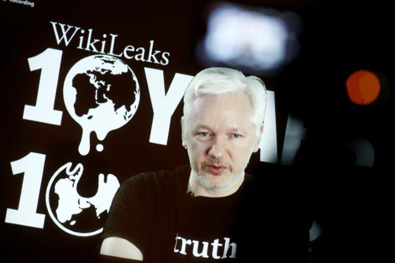 維基解密創辦人亞桑傑。圖/路透社