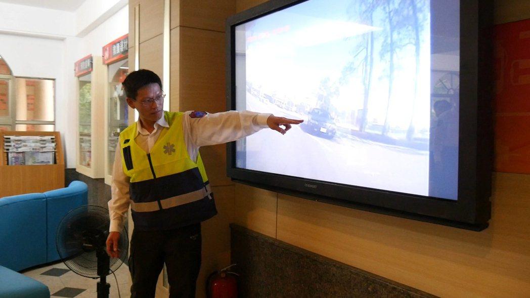 金門縣消防局今指出,日前救護車在出勤途中遭惡意阻擋。記者蔡家蓁/攝影