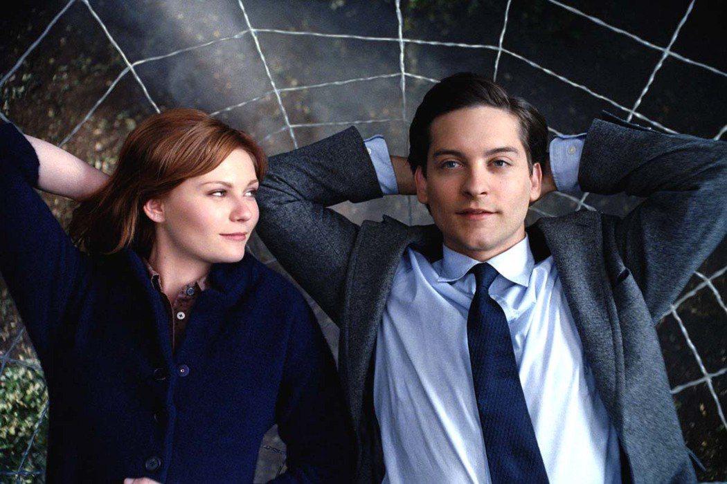 陶比麥奎爾和「蜘蛛人」中的戀人克絲汀鄧斯特,戲外也曾經交往。圖/摘自imdb