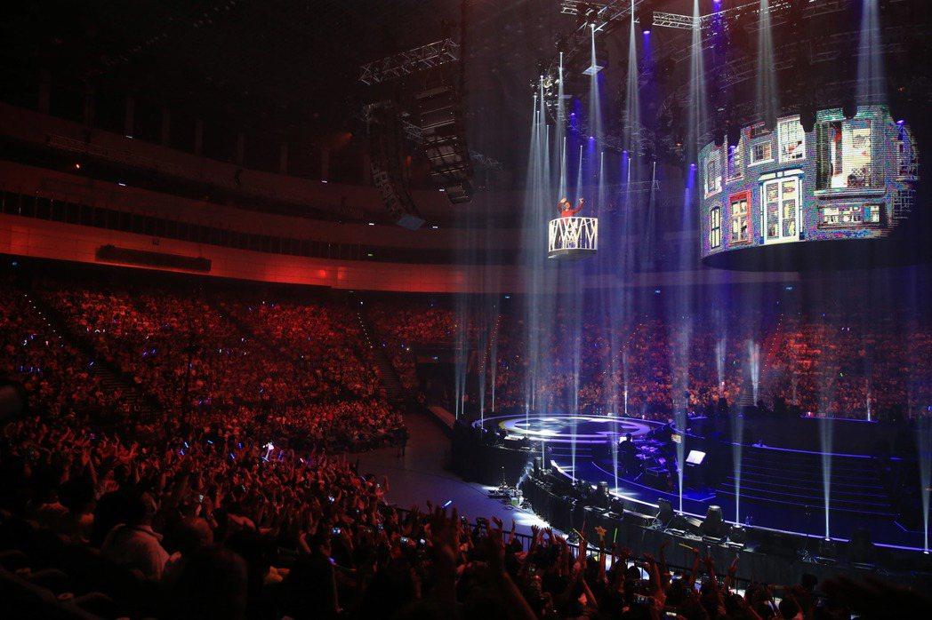 周華健的台北小巨蛋演唱會今晚登場。記者陳瑞源/攝影