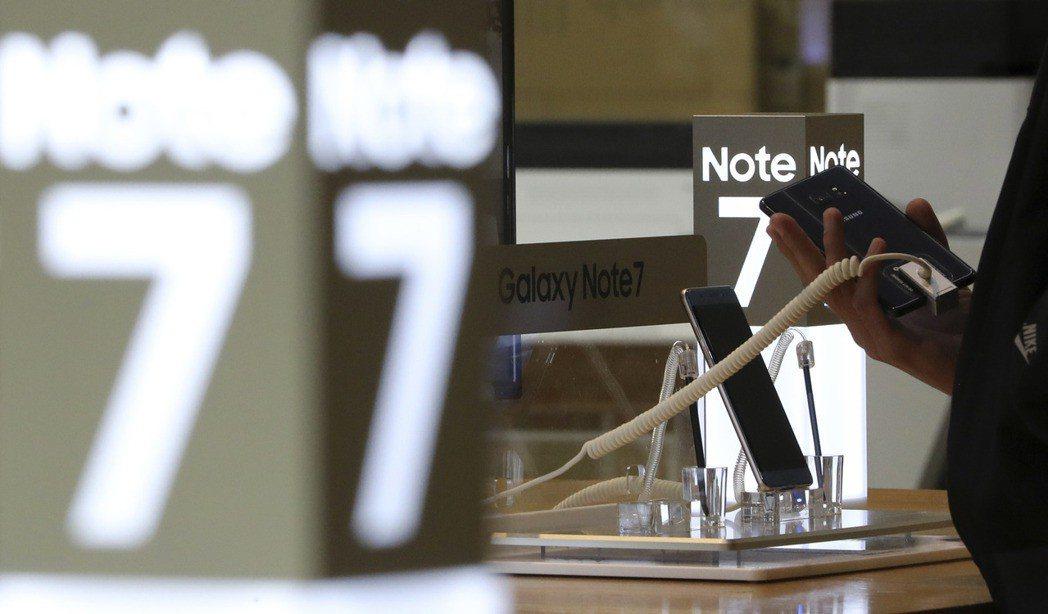 三星Galaxy Note 7在台回收率僅達67%。 圖/美聯社