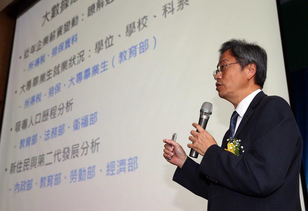 行政院前院長張善政在2016全球華人企業管理高峰論壇上以「大數據的推動策略」為題...