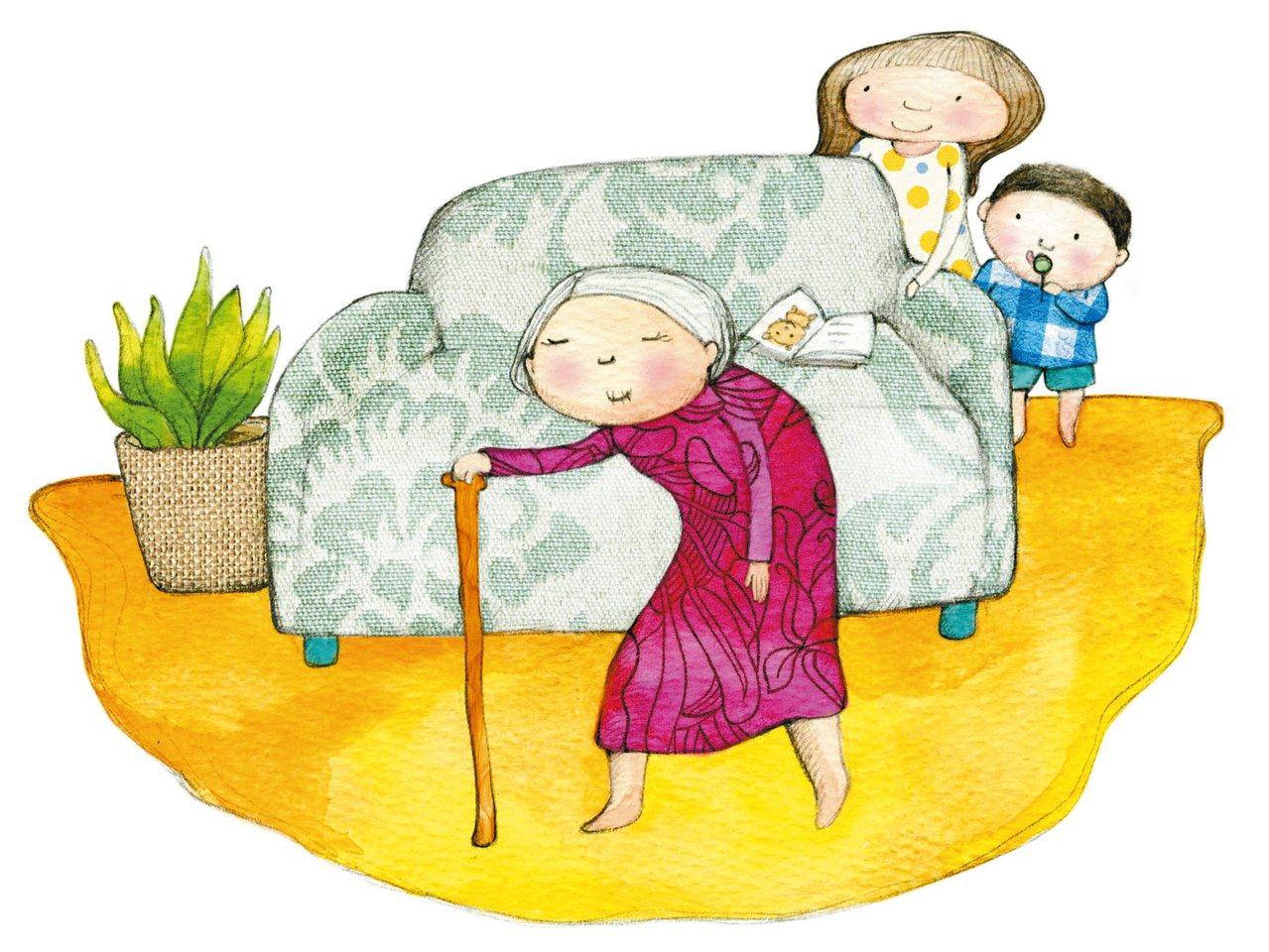頭腦清晰、個性堅定的婆婆,很快理出即使失去視力也足以自行應付的生活模式。 圖/倩