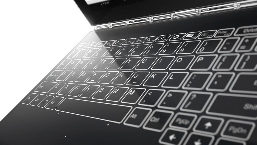 Lenovo Yoga Book 獨家技術Halo鍵盤。圖/Lenovo提供