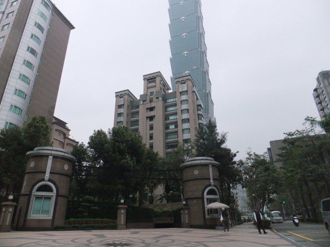 北市豪宅最凍寒冬。記者游智文/攝影