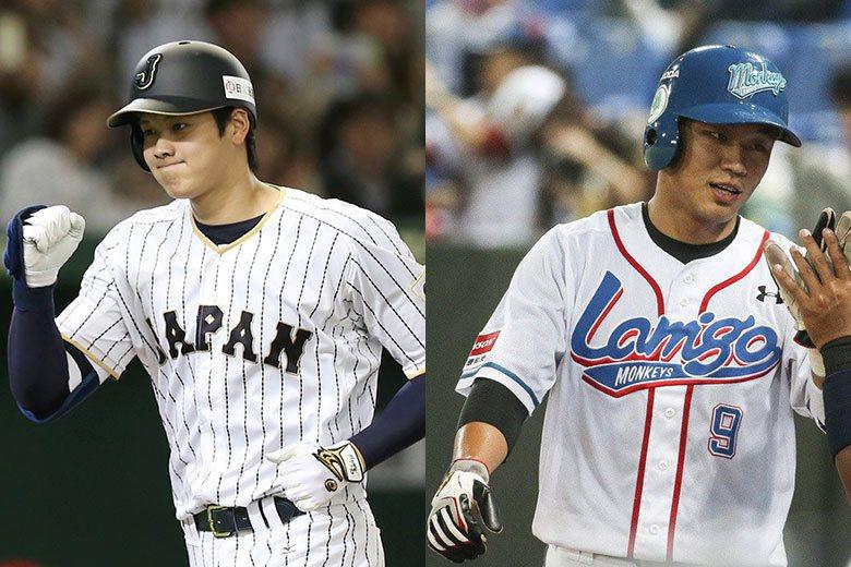 大谷翔平(左)與王柏融(右)的對決,是台灣球迷最期待看到的好戲! 美聯社、聯合報...