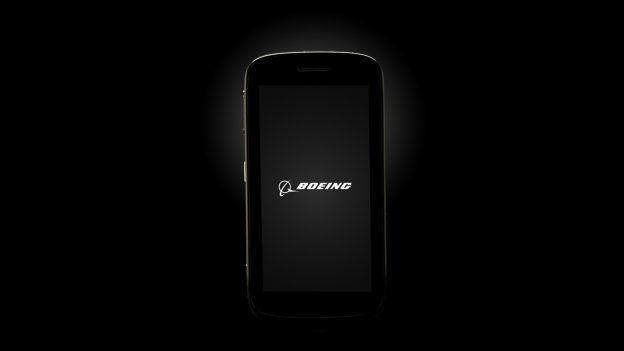 Boeing Black的特製版智慧型手機,擁有「自毀」資料功能。圖/取自波音官...