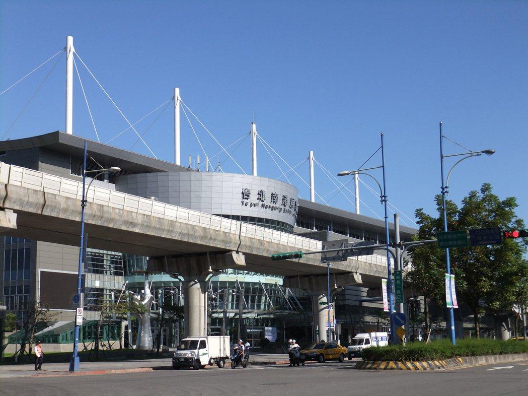 圖為捷運南港展覽館站。記者游智文/台北報導