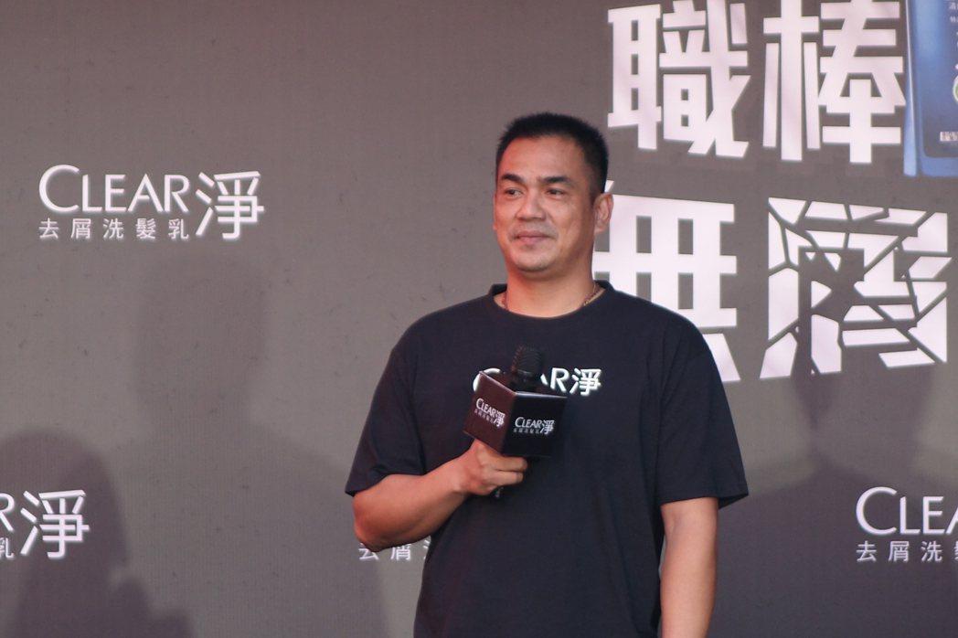 陳金鋒表示目前一切以經典賽為主。記者謝靜雯/攝影