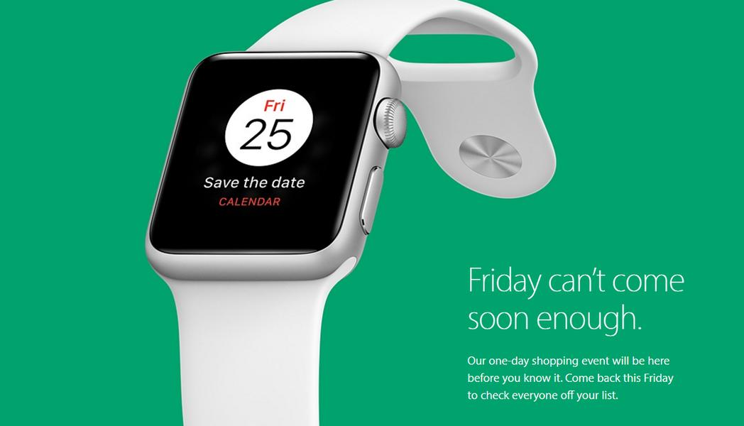 蘋果黑色星期五優惠購物日即將到來。 圖截自蘋果官網