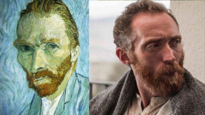 英國男子丹尼爾和梵谷長相神似。圖擷自 I Am Vincent 官網