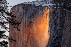 優勝美地「火瀑布」奇景 今年最壯觀