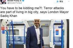 川普長子在倫敦恐攻後失言 倫敦市長差點背黑鍋