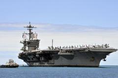 美航母打擊群赴朝鮮半島 遏阻北韓挑釁
