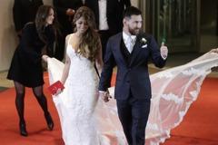 足球/梅西世紀婚禮 妻子超美婚紗驚豔全場