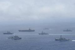 目標中共潛艇 美日印演練罕見出動航艦、核潛艇