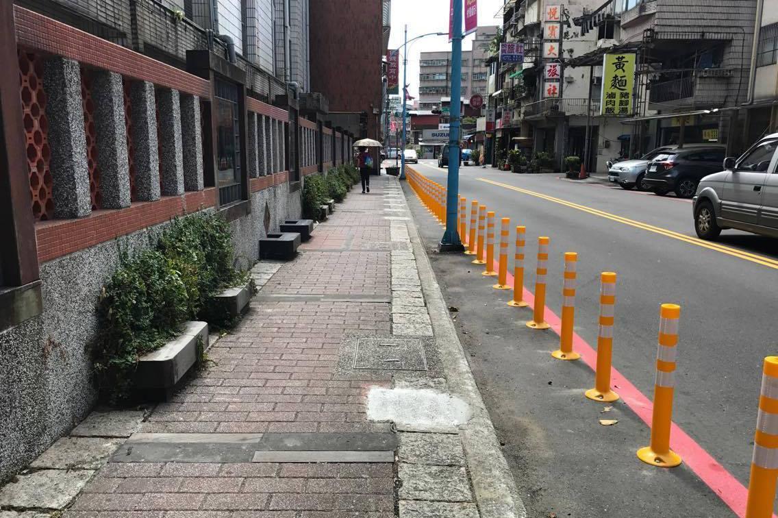 瑞芳人行道變寬敞 石墩移除保障安全